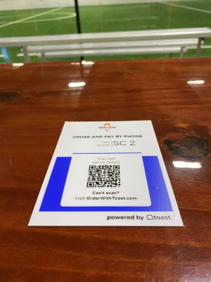 QR code order and pay